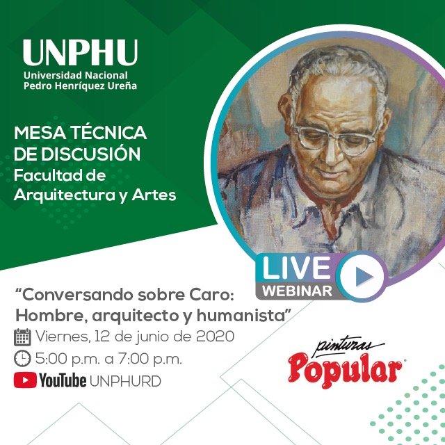 UNPHU realiza mesa de discusión Caro hombre arquitecto y humanista