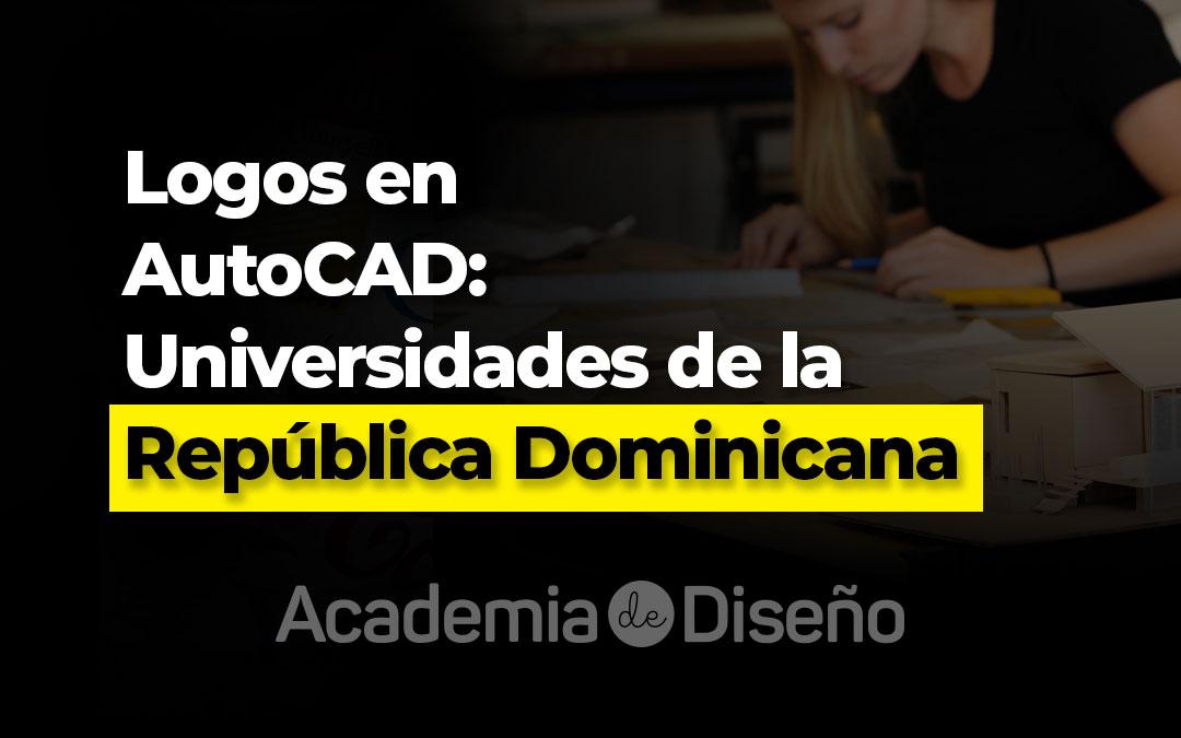 Logo en AutoCAD de las universidades de la República Dominicana