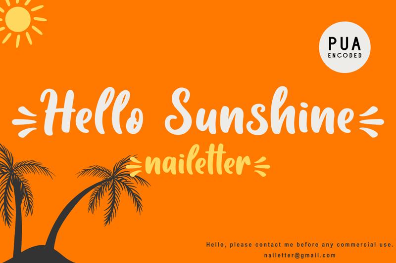 Las mejores fuentes gratis para descargar hello sunshine