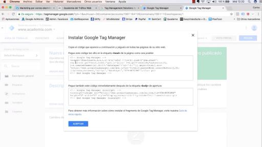 Etiqueta Google Tag Manager