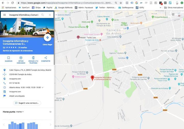 Google Maps en publicidad