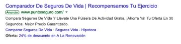 Anuncios google ads con datos específicos