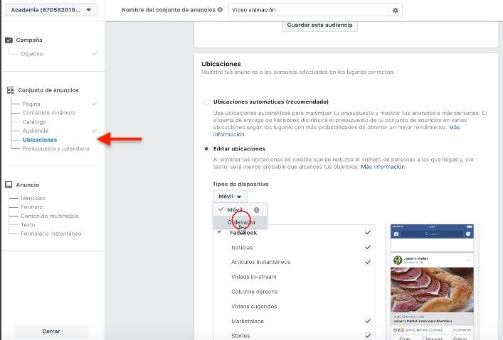 Editar ubicaciones de tus Lead Ads en Facebook