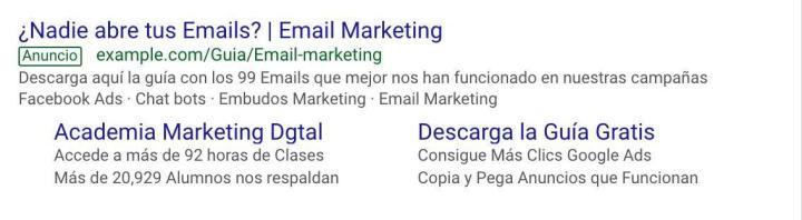 Ejemplos anuncios google ads