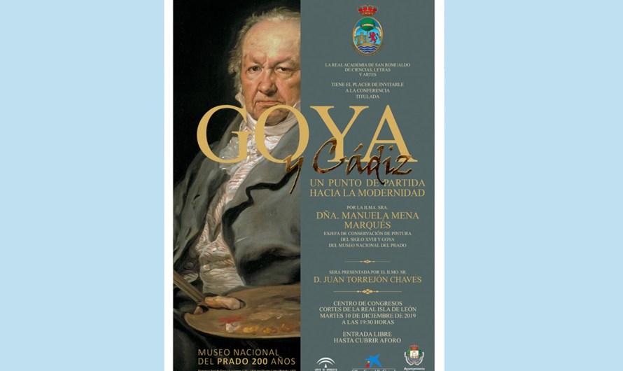 'Goya y Cádiz, un punto de partida hacia la modernidad' centra la actividad de la Academia el martes 10 de diciembre