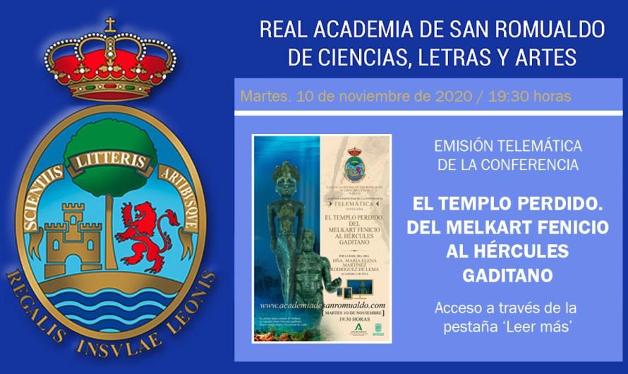 Conferencia 'El templo perdido. Del Melkart fenicio al Hércules gaditano', de Dª M. Elena Martínez Rodríguez de Lema