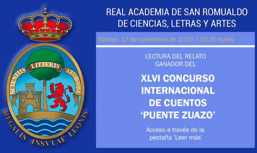 17 de noviembre, 19.30 horas: Lectura del relato ganador del XLVI Concurso Internacional de Cuentos 'Puente Zuazo'