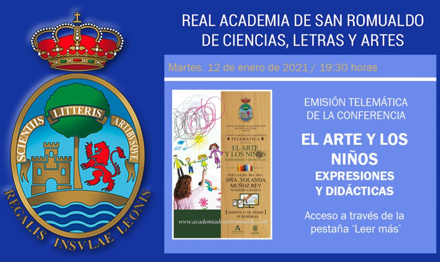 Enlace para ver la conferencia 'El arte y los niños. Expresiones y didácticas', de Dª Yolanda Muñoz Rey
