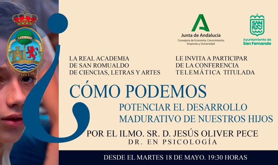 Potenciar el desarrollo madurativo de nuestros hijos centra la conferencia de la Academia del martes 18 de mayo