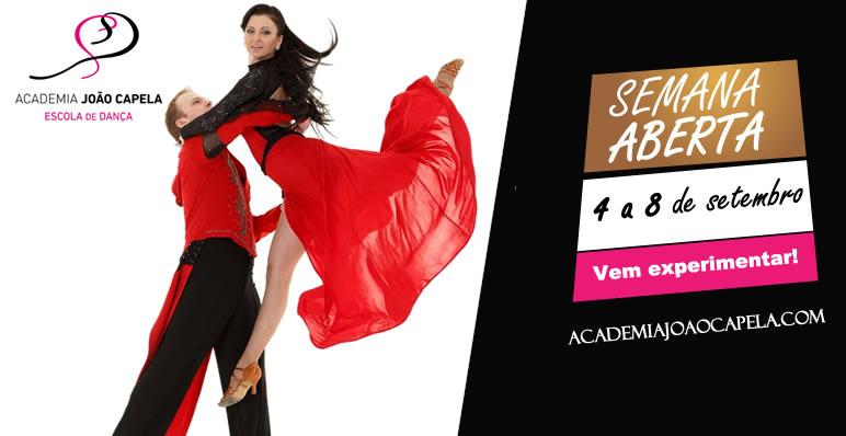 Semana Aberta 4 a 8 Setembro na Academia João Capela