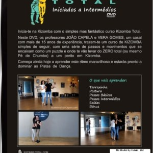 Curso Kizomba Total - DVD Back Cover PAL