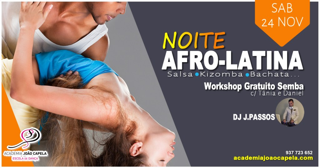 Noite Afro-Latina workshop gratuito de semba 24 Nov 2018