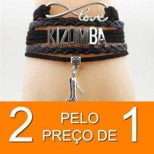PROMO 2 POR 1 - Pulseira Love Kizomba Preta