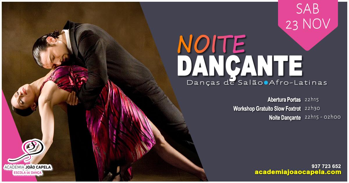 Noite Dançante - Danças de Salão, Ritmos Afro Latinos - Workshop de Slow Foxtrot