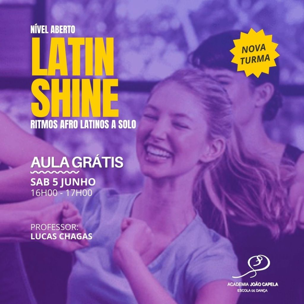 Nova Turma de Latin Shine Ritmos Afro Latinos sem Par Academia joao Capela Barcelos
