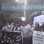 Teachers protest NAB
