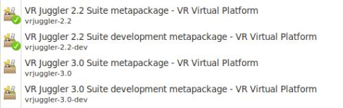VR Juggler in Ubuntu Software Center