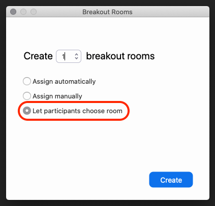 Clicking on Breakout Rooms in Zoom