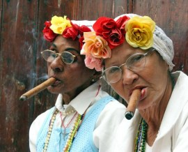 two women cigar