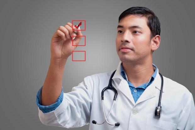 male physician checklist
