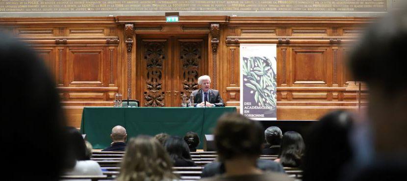 Des académiciens en Sorbonne … avec Jean-David Lévitte