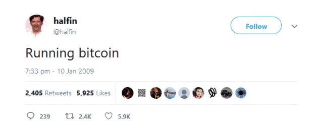 Finney escribe en Twitter que ya usa Bitcoin
