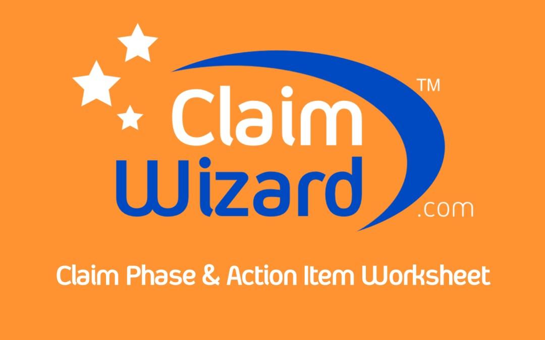 Claim Phase & Action Item Worksheet