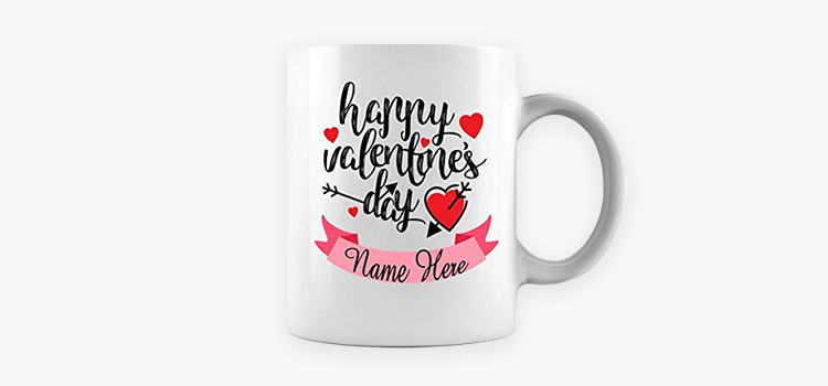 Valentine's Day campaign ideas: personalized mug