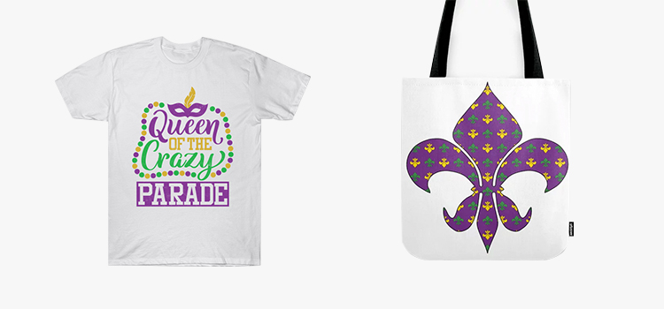 Carnival design ideas: tote bag and T-shirt design examples