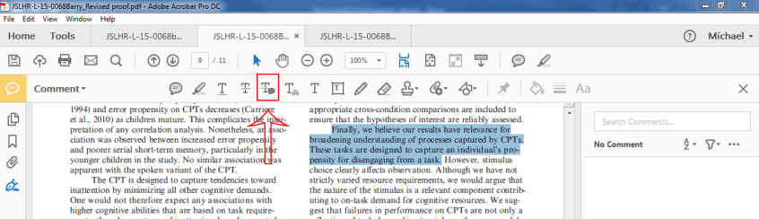 Annotating Your PDF Proof With Adobe – ASHA Journals Academy
