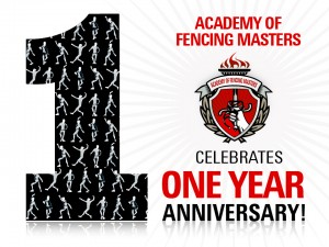 Academy of Fencing Masters Celebrates 1 Year Anniversary