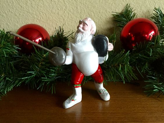Santa Claus epee fencing