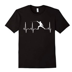 Fencing Hearbeat t-shirt