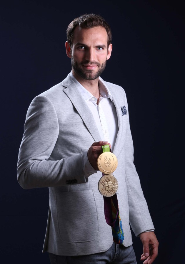 Áron Szilágyi with his two Olympic Gold medals