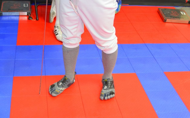 New fencing shoes enable new defensive technique