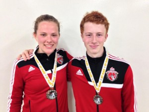 Anya and Alexander - Gold Medalists at Central California Y14 Summer National Qualifiers