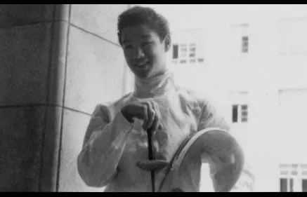 Peter Lee in his fencing gear. Image: The Bruce Lee Foundation