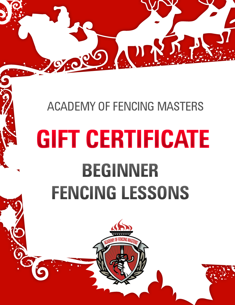 give the gift of fencing lessons a unique holiday gift for if you haven t finished your holiday shopping you can knock a couple items off your holiday gift list simply by heading to our website and ordering afm