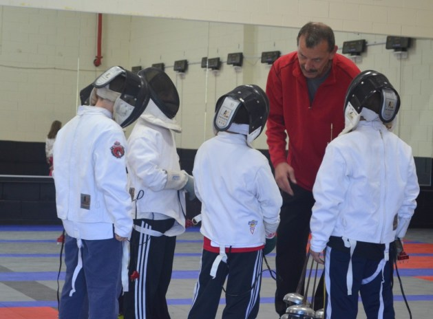 Coach Alexander set goals for beginner fencers for their first fencing competition