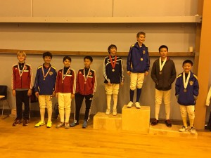 Half of the Podium at Y12 Mens