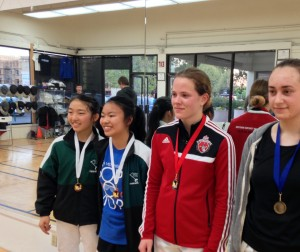 Anya Harkness takes Silver at Bay Cup's Senior Women's Foil tournament