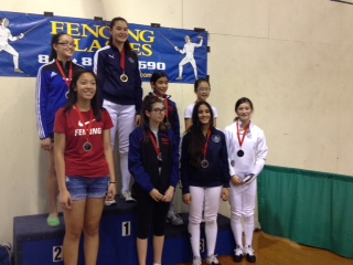 Jade Welder among medalist in Y14 Women's Epee Tournament in SoCal RYC in Pasadena September 2014