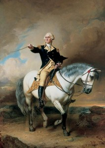 George Washington with sword