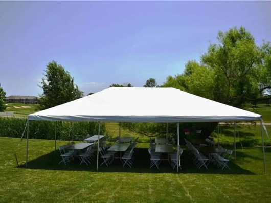 Frame Tent with 8 ft Banquet