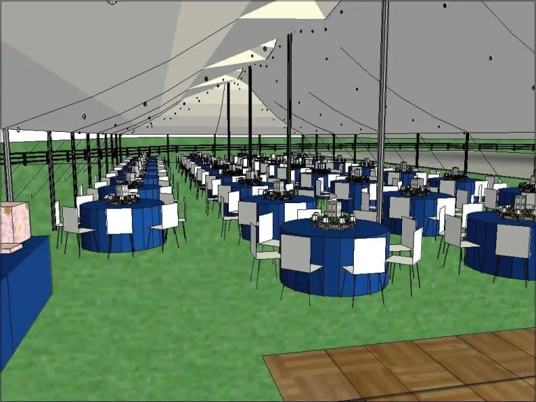 Custom Wedding Tent Rental Layout Cincinnati