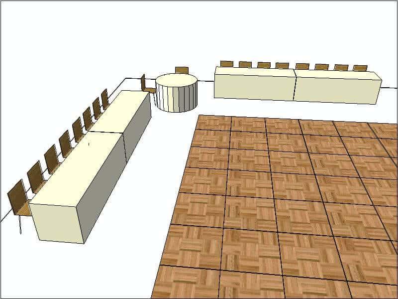 V Shaped Head Table Configuration