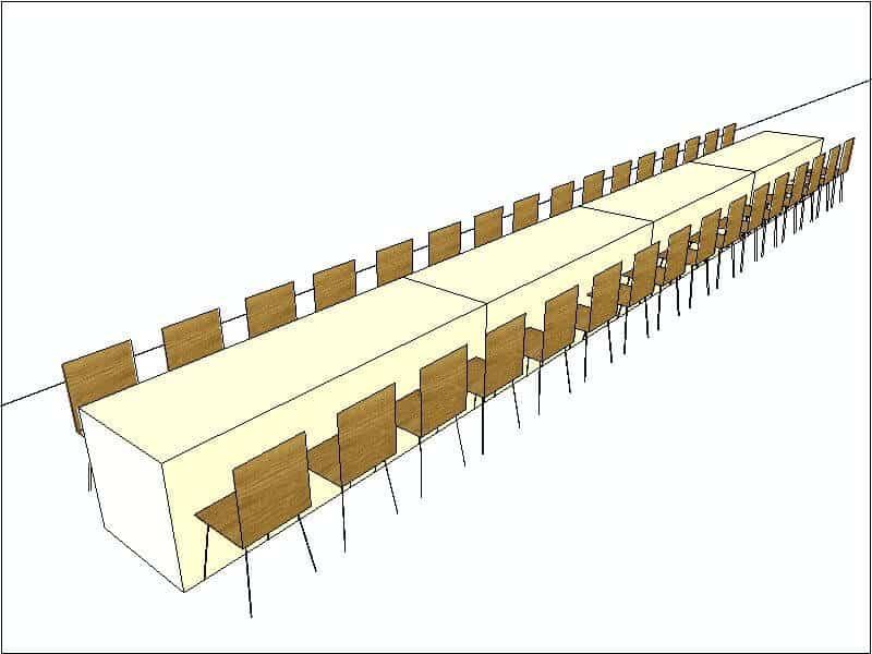 Family Style Head Table