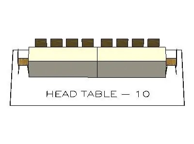 Head Table Layout for 10 people