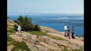 President Barack Obama hikes Acadia National Park