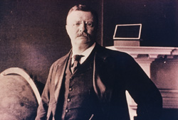Theodore Roosevelt visited Mount Desert Island in the late 1800s